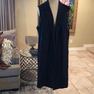 Black long lapeled Vest.